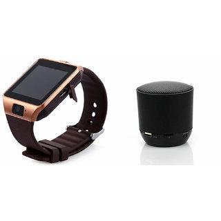 Zemini DZ09 Smartwatch and Hopestar H 9 Bluetooth Speaker  for MICROMAX CANVAS A1 AQ4502(DZ09 Smart Watch With 4G Sim Card, Memory Card| Hopestar H 9 Bluetooth Speaker)