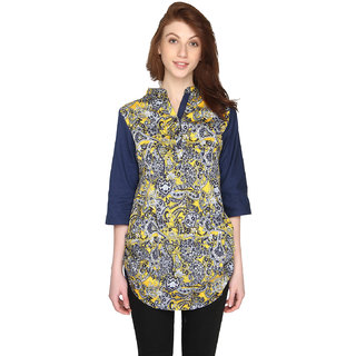 P-Nut Womens Printed Cotton Top with 3/4th Sleeves