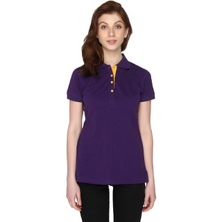P-Nut Womens Cotton Solid Top with Short Sleeves