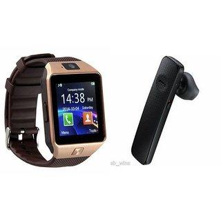 Zemini DZ09 Smartwatch and HM1100 Bluetooth Headphone for ASUS ZENFONE 2 LASER(DZ09 Smart Watch With 4G Sim Card, Memory Card| HM1100 Bluetooth Headphone)