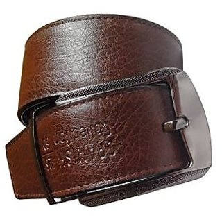 Brown PU Belt Men (Synthetic leather/Rexine)
