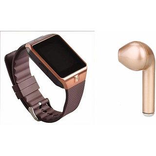 Zemini DZ09 Smart Watch and HBQ I7R Bluetooth Headphone for INFOCUS M810(DZ09 Smart Watch With 4G Sim Card, Memory Card| HBQ I7R Bluetooth Headphone)