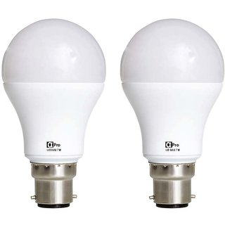 Alpha Pro 7 watt pack of 2 Lumens-560 with 1year replacement warranty