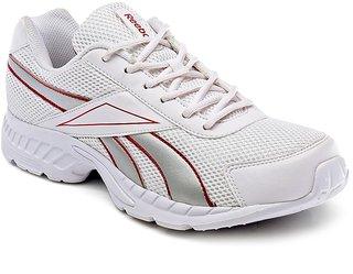 Reebok White Mesh Rubber Running Shoes For Men