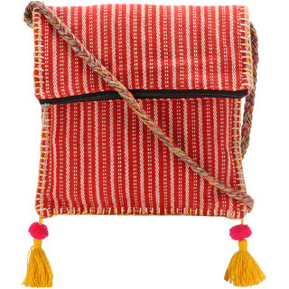 The House of Tara Boho Chick Crossbody Bag in Handloom Fabric HTCB 042