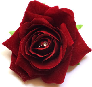 Homeoculture Red Rose flower hair clip