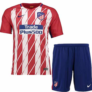 FOOTBALL JERSEY WITH SHORTS ATLETICO MAD RID HOME KIT SEASON 17-18 HALF SLEEVES IN ALL SIZES