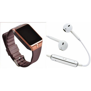 Zemini DZ09 Smart Watch and S6 Bluetooth Headsetfor MOTOROLA droid ultra(DZ09 Smart Watch With 4G Sim Card, Memory Card  S6 Bluetooth Headset)