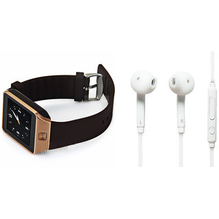 Zemini DZ09 Smart Watch and S6 Bluetooth Headsetfor LG OPTIMUS L3(DZ09 Smart Watch With 4G Sim Card, Memory Card| S6 Bluetooth Headset)