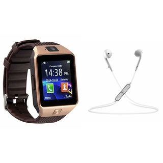 Zemini DZ09 Smart Watch and S6 Bluetooth Headsetfor VIVO xplay5(DZ09 Smart Watch With 4G Sim Card, Memory Card| S6 Bluetooth Headset)