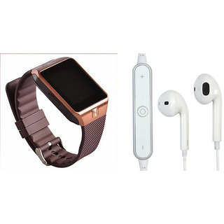 Zemini DZ09 Smart Watch and S6 Bluetooth Headsetfor LG GX2(DZ09 Smart Watch With 4G Sim Card, Memory Card| S6 Bluetooth Headset)