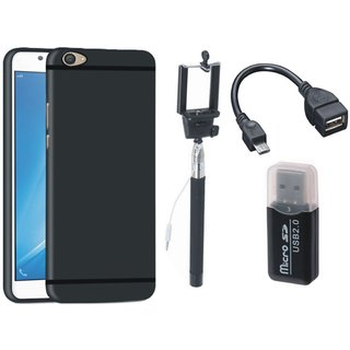 Lenovo K6 Power Silicon Anti Slip Back Cover with Memory Card Reader, Selfie Stick and OTG Cable
