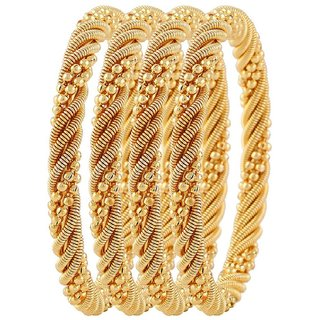 Aabhu Traditional Gold Plated Designer Bangles Jewellery For Women / Girls Set of 4