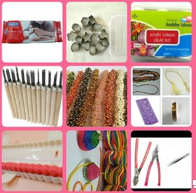 Terracotta jewellery making tools kit
