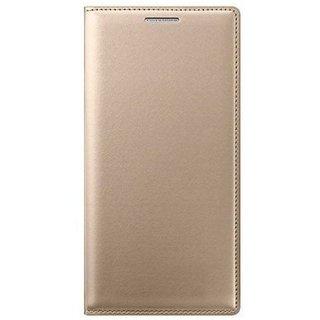 Samsung J7 NXT Flip Cover by ClickAway - Golden