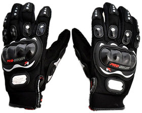 Pro-Biker Black Colour Full Gloves