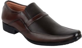 Ryko Mens Black Brown Formal Slip-on Shoes