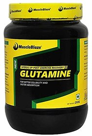 MuscleBlaze Micronized Glutamine - 250 g