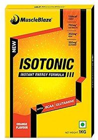 MuscleBlaze Isotonic Instant Energy Formula - 1 kg (Orange)