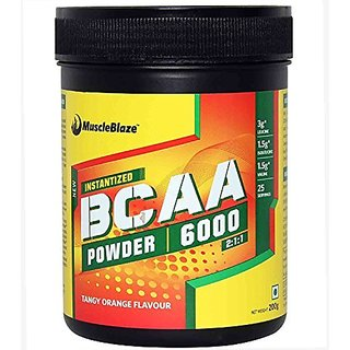MuscleBlaze BCAA 6000 - 200g (Tangy Orange)