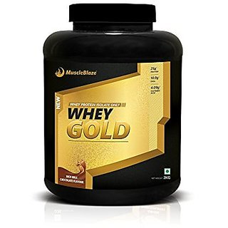 Muscleblaze Whey Gold 100% Whey Isolate Protein Supplement Powder 2 kg 66 Servings (Rich Milk Chocolate)