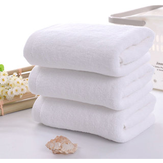angel homes 1 cotton white bath towel
