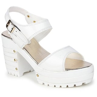 67d93644ad80 Buy SHOFIEE WOMENS STYLISH HEEL-KING BLOCK HEEL PARTY WEAR CASUAL WEDGES  Online - Get 29% Off
