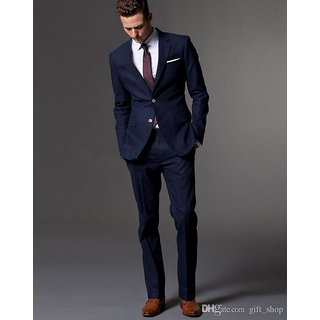 Murarka Unstitched Blue poly viscose Suit length