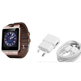 Zemini DZ09 Smart Watch and Mobile Charger for HTC DESIRE 300(DZ09 Smart Watch With 4G Sim Card, Memory Card| Mobile Charger)