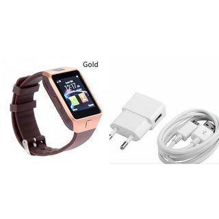 Zemini DZ09 Smart Watch and Mobile Charger for GIONEE ELIFE E3(DZ09 Smart Watch With 4G Sim Card, Memory Card| Mobile Charger)