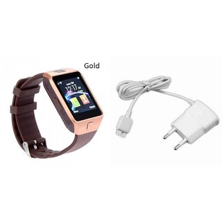 Zemini DZ09 Smart Watch and Mobile Charger for GIONEE F103(DZ09 Smart Watch With 4G Sim Card, Memory Card| Mobile Charger)
