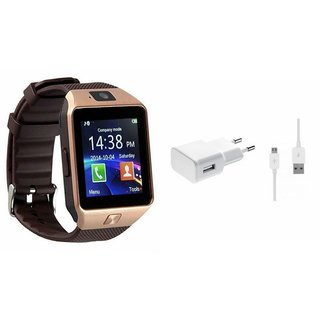 Zemini DZ09 Smart Watch and Mobile Charger for HTC DESIRE 820Q(DZ09 Smart Watch With 4G Sim Card, Memory Card| Mobile Charger)