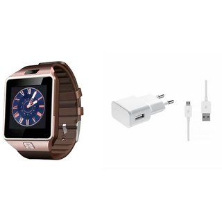 Zemini DZ09 Smart Watch and Mobile Charger for MICROMAX CANVAS FIRE 4(DZ09 Smart Watch With 4G Sim Card, Memory Card| Mobile Charger)