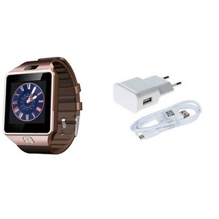 Zemini DZ09 Smart Watch and Mobile Charger for GIONEE T520(DZ09 Smart Watch With 4G Sim Card, Memory Card| Mobile Charger)
