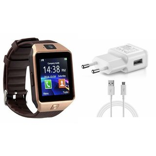Zemini DZ09 Smart Watch and Mobile Charger for MICROMAX CANVAS 4 PLUS(DZ09 Smart Watch With 4G Sim Card, Memory Card| Mobile Charger)