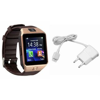 Zemini DZ09 Smart Watch and Mobile Charger for HTC J BUTTERFLY(DZ09 Smart Watch With 4G Sim Card, Memory Card| Mobile Charger)