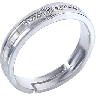 Fasherati silver plated band rings for unisex