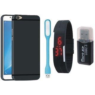 Motorola Moto E4 Plus Premium Quality Cover with Memory Card Reader, Digital Watch and USB LED Light