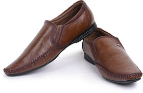 Jovelyn Brown Slip On Formal Shoes For Men's J3178A