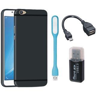 Motorola Moto E4 Plus Stylish Back Cover with Memory Card Reader, USB LED Light and OTG Cable