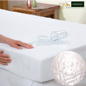 Homegenic Premium Hypoallergenic Ultrasonic Microfiber Water-proof  Dust-proof Mattress Protector (Upto 12 Elastic Dr