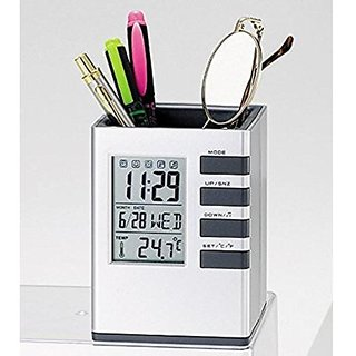Care 4 ™ Cube Pen Holder Tabel Stand Digital Pen Stand Pen Stand Office Table OrganizerWith Back Light