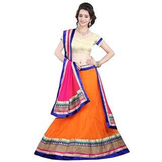 Payal Fashion Womens Un-stitched Lehenga choli Material In Net Fabric