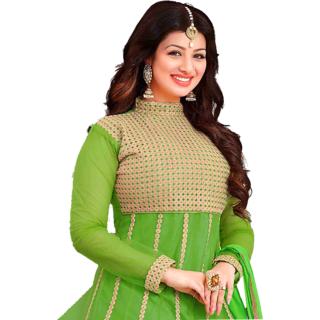 Designer Georgette Green Anarkali Salwar Kameez Suit