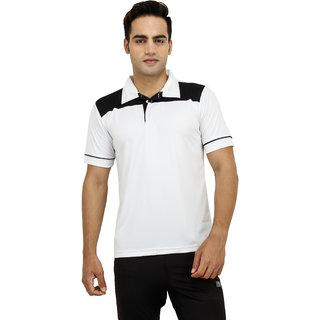 T-10 Sports Men'S White Half Sleeve T-Shirts