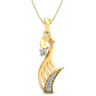 Celenne By Gili 14K Yellow Gold Diamond Pendant For Women