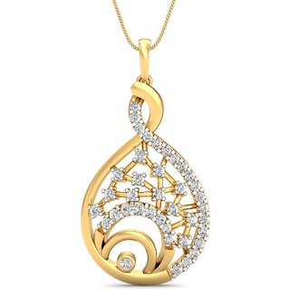 Avnni By Nakshatra 14K Yellow Gold Diamond Pendant For Women