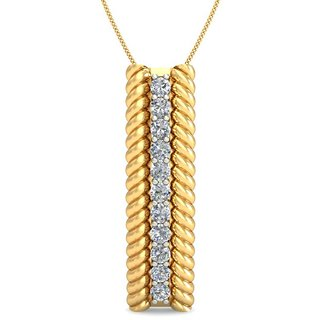 Celenne By Gili 14K Yellow Gold Diamond Pendant For Women