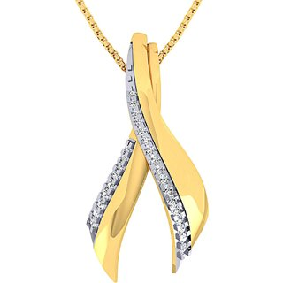 Gili 14K Yellow Gold Diamond Pendant For Women