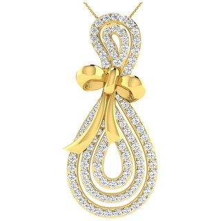 Gili 14K Yellow Gold Diamond Pendant For Women